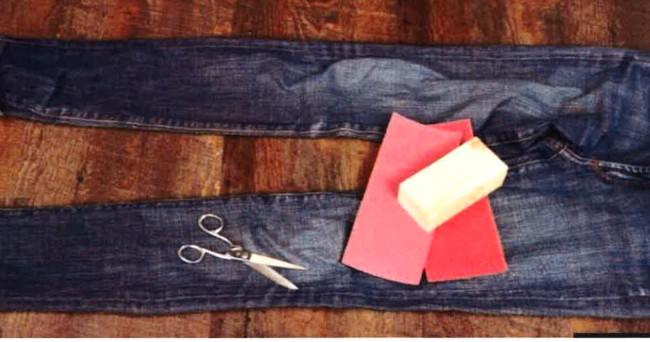 Jeans im Chabby Chic / aus Neu mach Alt!